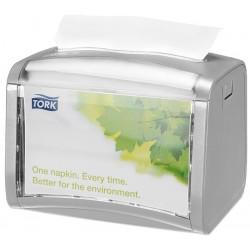 Distributeur 275 serviettes Tork Xpressnap N4 gris clair