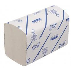 Carton de 15 paquets essuie mains Scott Ecolabel blanc 1 pli en V 274f