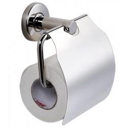 Distributeur de papier toilette mural inox Ambre avec couvercle
