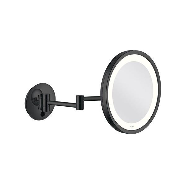 miroir grossissant lumineux mural led nexxus 25 cm double. Black Bedroom Furniture Sets. Home Design Ideas