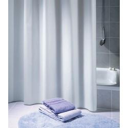 Rideau de douche Excellence 100% polyester hydrofugé sans anneaux blanc L120xH200 cm