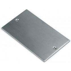 Lot de 10 plaques pour portes et tables laiton massif poli rectangulaire 60x35mm