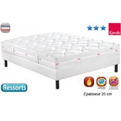 Matelas Confort 1500 ressort multispire multizones 25 cm 2x90x190 cm