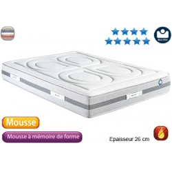 Matelas mousse Bultex HD et mémoire de forme i500 26 cm 2x90x200 cm