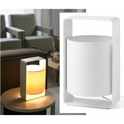 Lampe de table Lula blanche L15 x H27 cm