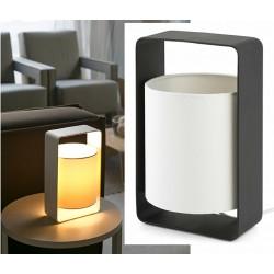 Lampe de table Lula noire et blanche L15 x H27 cm