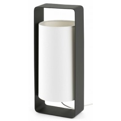 Lampe de table Lula noire et blanche L15 x H40 cm