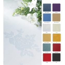 Nappes 100% polyester antitaches damassé  178x178 cm