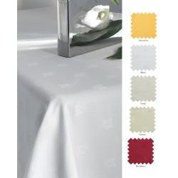Nappe en polyester filé motif feuille de lierre Ø224 cm
