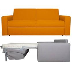 Canapé convertible 3 places 140 cm tissu Leonardo ou Microfibra