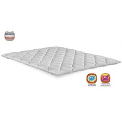 Surmatelas sweet stretch 100% polyester ép 6 cm maintien élastique 140x190 cm