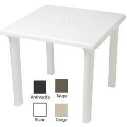 Lot de 16 tables carrées Orléans 80 x 80 cm