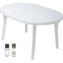 Lot de 16 tables ovales Orléans 135 x 95 cm