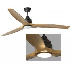 Ventilateur de plafond Alo métal et bois avec Led ø152 cm