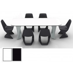 Table Iso outdoor plateau HPL L220 x P90 x H75 cm