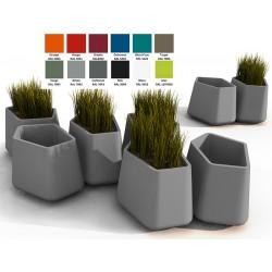 Pot décoratif Rock Garden moyen 100% recyclable
