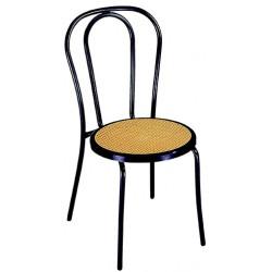 Chaise Bistro assise cannée cerclé de noir
