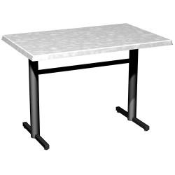 Table monobloc Bistro plateau stratifié moulé 110x70 cm