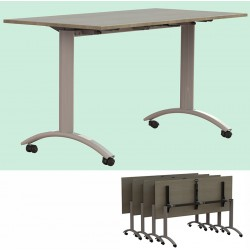 Table plateau rabattable Facile plateau stratifié 180x80 cm