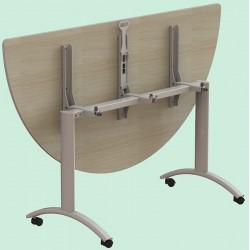 Table plateau rabattable Facile plateau stratifié 1/2 rond 160 cm