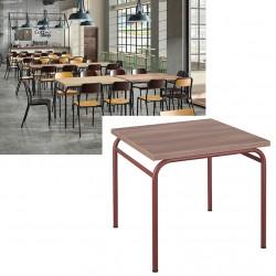 Table de restauration 4 pieds Vintage MDF stratifié 120x80 cm