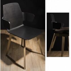 Chaise coque 4 pieds et appui sur table Evolution dossier bas N°3