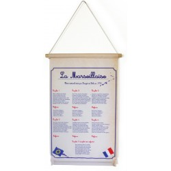 """Kakémono textile à suspendre A3 """"Marseillaise"""" modèle 2"""
