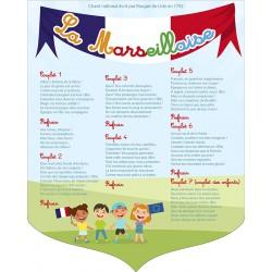 """Écusson PVC 40x50 cm """"Marseillaise"""" modèle 1"""