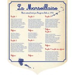 """Écusson PVC 40x50 cm """"Marseillaise"""" modèle 2"""