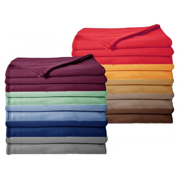 Lot de 10 couvertures polaire 350 g non feu 180 x 220 cm