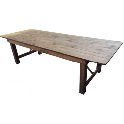 Table pliante en bois Tradition L213 x P102 cm