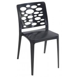 Lot de 40 chaises empilables polypropylène et fibre Dalou