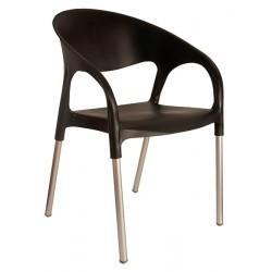 Lot de 40 fauteuils en polypropylène avec pieds aluminium Lodes