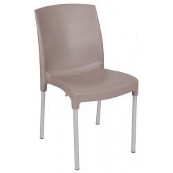Lot de 30 chaises empilables en polypropylène avec pieds aluminium Joch