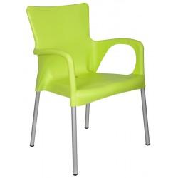 Lot de 40 fauteuils en polyprolpylène avec pieds aluminium Médis