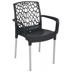 Lot de 30 fauteuils en polyprolpylène avec pieds aluminium Najac