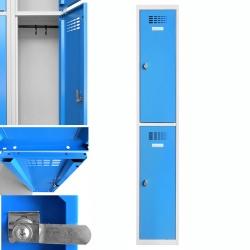 Vestiaire multicases  1 colonne 2 cases L30 x P50 x H 180 cm
