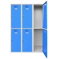 Vestiaire multicases  3 colonnes 2 cases L120 x P50 x H 180 cm