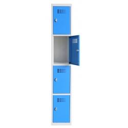 Vestiaire multicases  1 colonne 4 cases L30 x P50 x H 180 cm