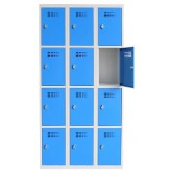 Vestiaire multicases  3 colonnes 4 cases L90 x P50 x H 180 cm