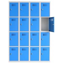 Vestiaire multicases  4 colonnes 4 cases L120 x P50 x H 180 cm
