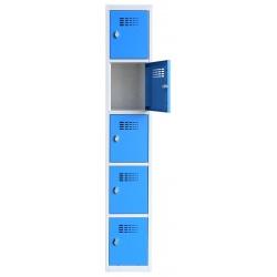 Vestiaire multicases  1 colonne 5 cases L40 x P50 x H 180 cm