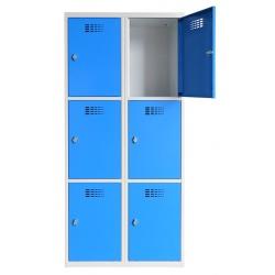Vestiaire multicases  2 colonnes 3 cases L80 x P50 x H 180 cm