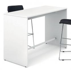 Table haute plateau mélaminé pieds panneaux L160 x P70 x H105 cm