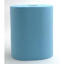 Lot de 6 essuies mains devidage latéral maxi S3 gaufré bleu non prédécoupé