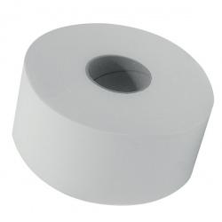 Lot de 12 rouleaux papier toilette mini jumbo lisse blanc