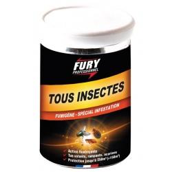 Lot de 6 pots de fumigène 150 m3 tous insectes Fury