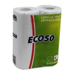 Pack de 32 essuies tout 50 formats 23x22,7 cm blanc
