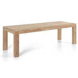 Table rectangulaire Primitive en teck recyclé L250xP100xH78 cm