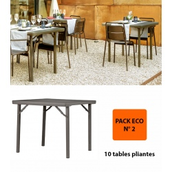 Pack Eco 2 : 10 tables pliantes Excellence 91,4 x 91,4 cm